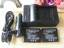 2XBattery+Charger for Leica C-Lux 1 D-Lux 2 D-Lux 3 D-Lux 4 DLux 4 Digita Camera