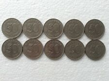 MALAYSIA  50sen coin x 10pcs  1987  LOW MINTAGE  Parliament series #2