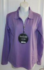 San Soleil Long Sleeve Ladies Shirt Golf Tennis Sun Protect Lavender Purple - S