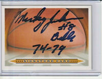 Mickey Johnson Autographed Basketball Signature Card