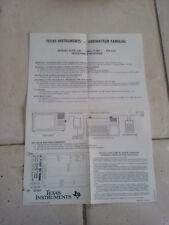 Notice en français interface SECAM pour ordinateur TI-99 / TI99 / TI 99