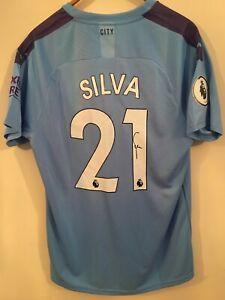 DAVID SILVA - Signed - Man City 2019/20 SHIRT **EXACT PROOF**