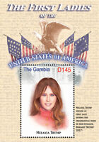 Gambia 2017 - THE FIRST LADY OF THE UNITED STATES - MELANIA TRUMP - S/S - MNH