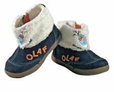 Stride Rite Toddler Boys Girls size 5.5 M Ankle boots Disney baby  Frozen Olaf