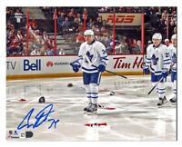 Auston Matthews Toronto Maple Leafs Autographed 1st Game - 4 Goal 11x14 Photo