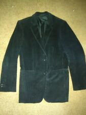 Theory Men's Black Corduroy Sport Coat Jacket - Size 38 Regular Good Condition!