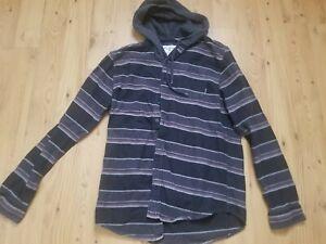 Billabong Hoodie Baja Flannel button-up shirt M Surf Colorful Gray Black Red Men