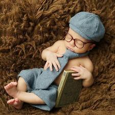 Neugeborenes Baby Junge Hut Krawatte Shorts Brille Kostüm Set Fotografie Faddis