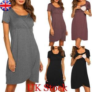 Pregnant Women Maternity Dress Breastfeeding Nursing Top Pyjamas Night Sleepwear