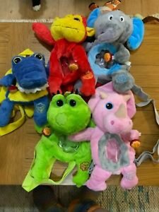 Chupa Chups x5 Backpacks Promotional Monkey Elephant Crocodile Frog Dinosaur