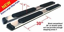 """04 -14 Ford F-150 Crew Cab 5"""" Chrome Pads Running Side Step Boards Nerf Bars"""