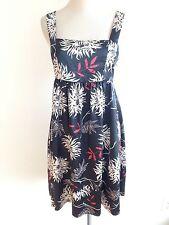 Vertigo Paris Sleeveless Dress Navy w/Red & White Floral Size M