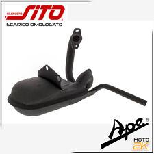 0244 MARMITTA SCARICO SITO LEOVINCE NERA PIAGGIO APE 50 EUROPA MIX TM RO 830452