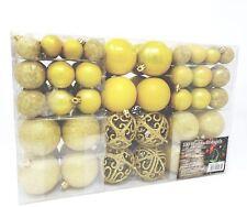 100 Bolas de Navidad Amarillo Adecuado para con Gancho Brillante Brillante