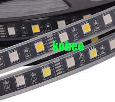 5M 5050 RGBW DC12V RGB+White / RGB+Warm White Flexible LED Strip Black/White