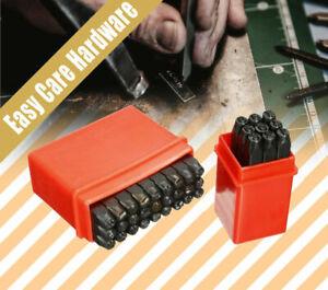 LETTER & NUMBER PUNCH STAMP SET 3mm 4mm 5mm 6mm 8mm 10mm Hardened steel