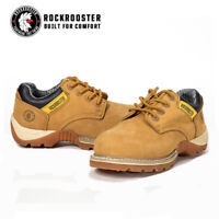 ROCKROOSTER Work Boots Men's Lace-up Safety Boot Water Resistant Leather AP238