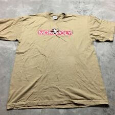 90s VTG MONOPOLY STANLEY DESANTIS Logo T Shirt Board Game HASBRO XL Made USA