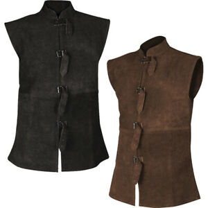 Orthello Suede Leather Vest - Medieval and Renaissance Apparel