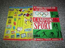 ALBUM CAMPIONI DELLO SPORT 1966 PANINI+51 FIGURINE+2 ADESIVI BUONO NO CALCIATORI