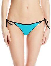 Volcom Juniors Beachblock Tiny String Bikini Bottom Sea Swell Blue Medium 7-9