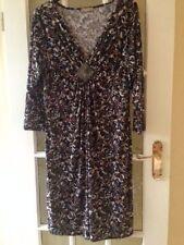 Party Animal Print 3/4 Sleeve Regular Size Dresses for Women