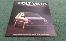 COLT VISTA 1988 USA LARGE BROCHURE Mitsubishi Spacewagon Dodge 4WD 2WD Wagon