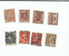 BELGIUM early issues; LOT OF 8 STAMPS  , used *S