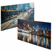 Set of 2 City Skyline Canvases New York Manhattan Print Picture Wall Art Canvas