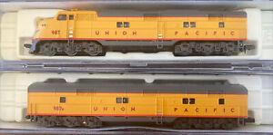 LIFE LIKE N SCALE 7362 UNION PACIFIC E6 A/B Passenger Locomotive SET PWR/dummy