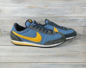 Vintage Nike Cortez 2002 Mens Sneakers Blue Yellow Very Rare Retro Shoes