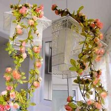 Artificial Fake Silk Rose Flowers Hanging Garland Wedding Arch Door Floral Decor