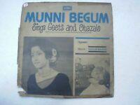 MUNNI BEGUM GEET & GHAZALS 1978 RARE LP RECORD vinyl india hindi GHAZAL VG+