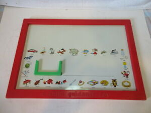 Vintage Child Guidance Toy Magnets Numbers Letters Board