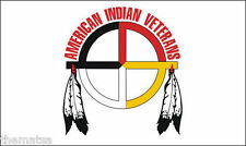 """AMERICAN INDIAN VETERAN MILITARY TRIBE FLAG 5"""" STICKER BUMPER DECAL MADE IN USA"""