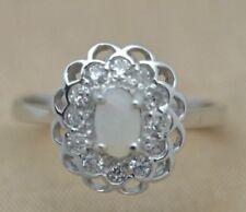 Anelli di lusso con gemme naturali opale argento sterling