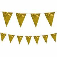 Gold Bunting Metallic Anniversary Wedding Banner Garland Christmas Decoration