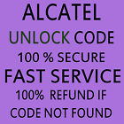 ALCATEL PERMANENT NETWORK UNLOCK CODE service ALCATEL OT-2012G