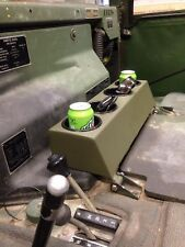 M998 HUMVEE HMMWV Cup Holders Center Counsle Powder Coated Green