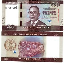 Liberia LIBERIE Billet 20 DOLLARS 2017 NEW NOUVEAU WILLIAM S. TUBMAN NEUF UNC