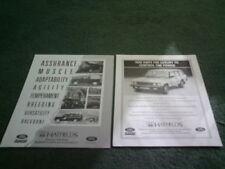 Range Rover Paper 1990 Car Sales Brochures