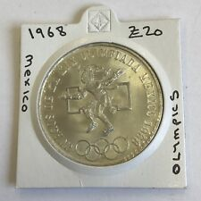 Messico Messicana OLIMPIADI 1968 25 PESOS MONETA D'ARGENTO