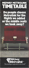 Midway Airlines system timetable 7/1/84 [6105] Buy 2 get 1 Free