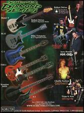 Schecter Model T M.33 TSH-1 guitars Stone Temple Pilots Papa Roach 8 x 11 ad