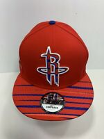 New Era NBA 9FIFTY Red Snapback Houston Rockets Flat Bill Cap, NEW!