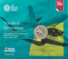2018 RAF CENTENARY F-35 LIGHTNING £2 POUND COIN BU ROYAL MINT SEALED COIN PACK