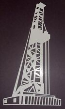 "Oil Field  / Oil Rig Vinyl Decal / 10"" Tall x 5"" Wide / White / Black etc...."