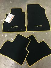 NEW OEM NISSAN JUKE BLACK CARPET MATS WITH YELLOW ACCENT PIPING