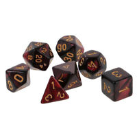7 Pcs. Polyhedral Dice Set For Dungeons And Dragons DND MTG RPG Game Red/black
