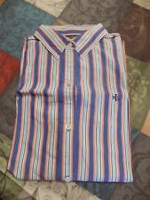 LAUREN RALPH LAUREN SHIRT WITH COLORFULSTRIPES AND CHEST LOGO SIZE L
